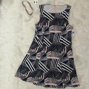 NWT Madison Jules XL Dress pattern asymmetrical